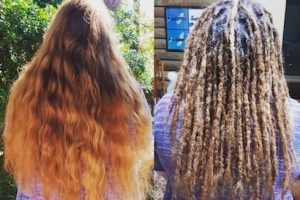 Dreadlocks installation long hair